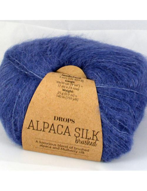 Drops Brushed alpaca silk 13 džínsová modrá