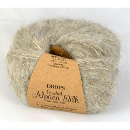 Drops Brushed alpaca silk 2 sivá