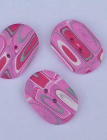Gombík Ovalko pink 27