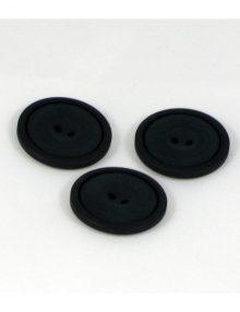 Gombík okrúhly čierny