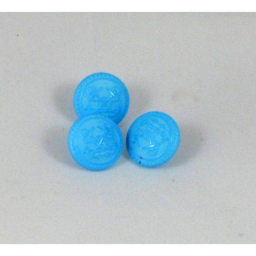 Gombík modrý kotvy