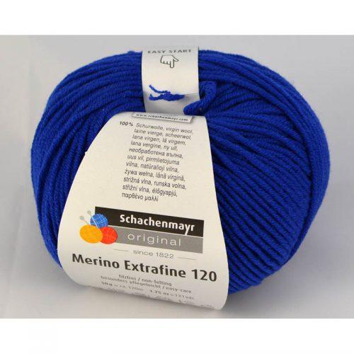 Merino extrafine 120 153 kráľovská modrá