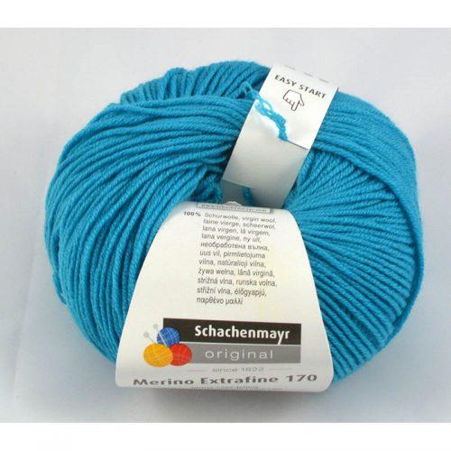 Merino extrafine 170 68 stredomorská modrá