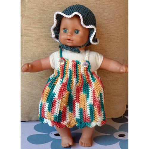 Klobúčik a šatôčky pre bábiku