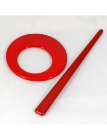 Spona kruh červená
