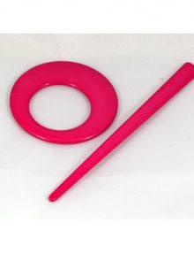 Spona kruh ružová
