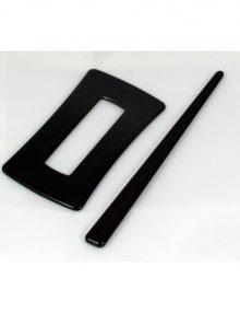 Spona obdĺžnik čierna