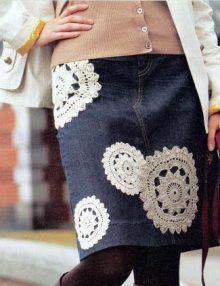 Aplikácie na džínsovú sukňu