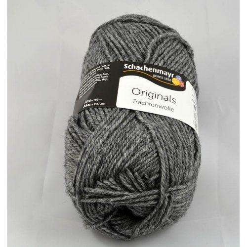 Trachtenwolle 97 stredná sivá