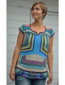 Tričko - modulové pletenie