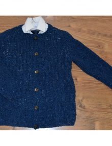 Tvídový chlapčenský sveter