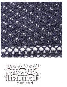 Háčkovaný vzor Vejáriky