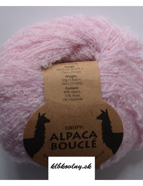 DROPS Alpaka Bouclé 3125 svetlá ružová