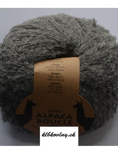 DROPS Alpaka Bouclé 517 stredná sivá