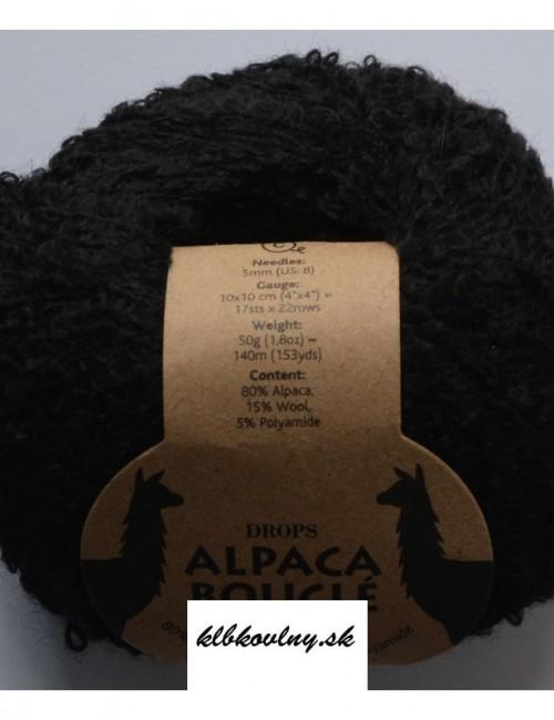 DROPS Alpaka Bouclé 8903 čierna
