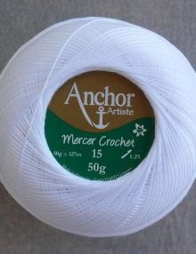 Anchor Mercer Crochet 15 snehobiela 7901