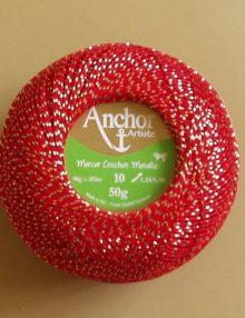 Anchor Mercer Crochet Metallic - všetky odtiene