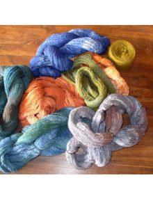 Farbenie priadze Silk