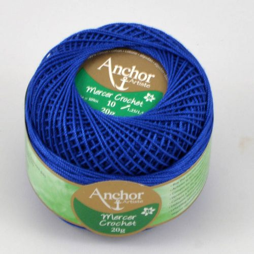 Anchor Mercer Crochet 10 133 kráľovská modrá