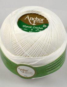 Anchor Mercer Crochet 5 7901 biela