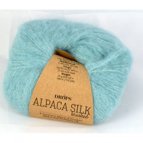 Brushed alpaca silk 15 ľadovcová modrá