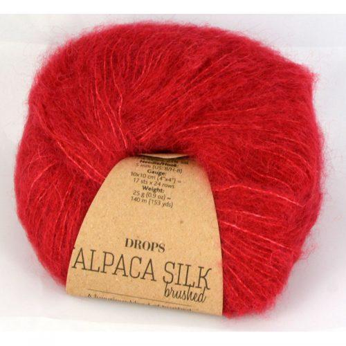 Brushed alpaca silk 7 červená