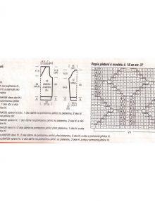 Pulóver s kosoštvorcovým vzorom - schéma