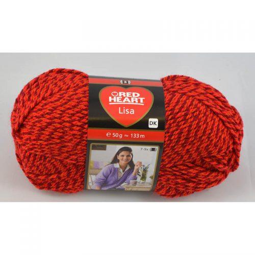Lisa 5680 Červená muliné