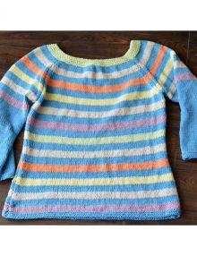 Jarný pásikavý pulóver