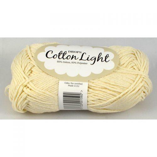 Cotton light 1 prírodná biela
