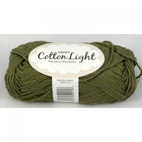 Cotton light 12 khaki zelená