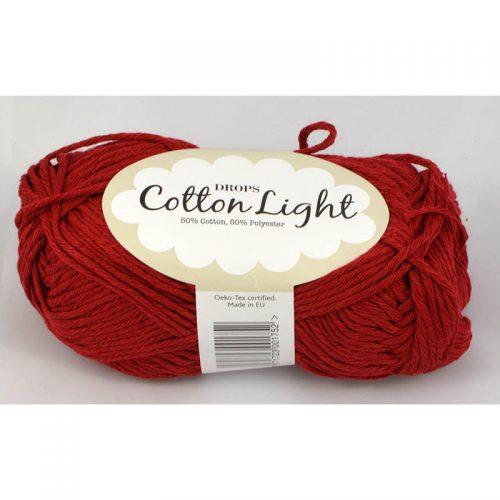 Cotton light 17 rubínová