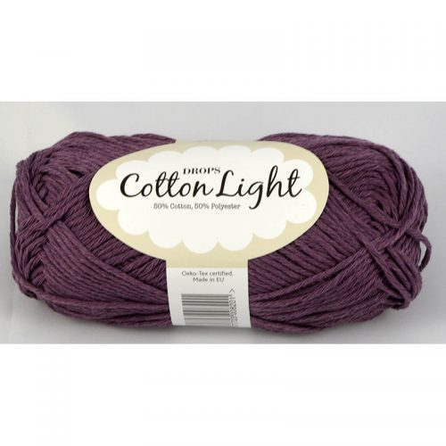 Cotton light 24 baklažánová