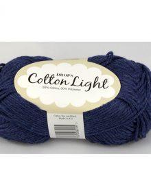 Cotton light 26 tmavá džínsová modrá