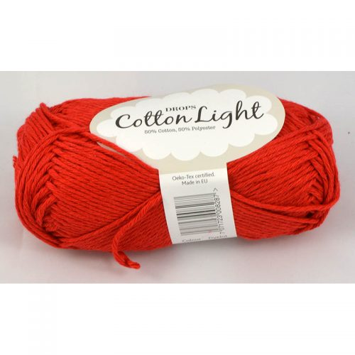 Cotton light 32 červená