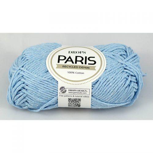 Paris recycled denim 100 najsvetlejšia modrá