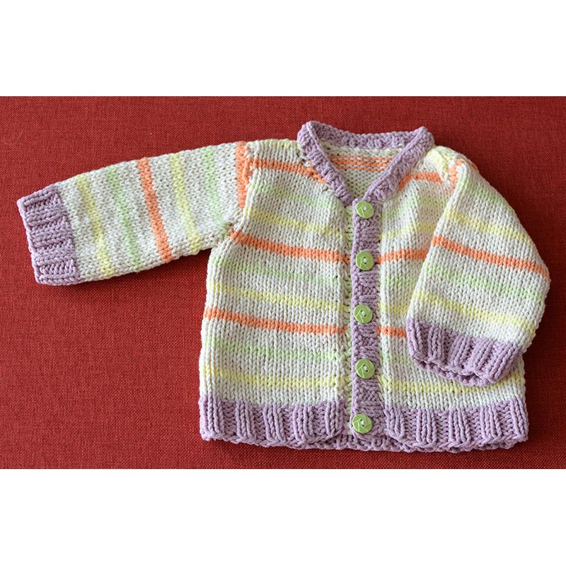 382e26dc9 Pásikavý jarný svetrík pre bábätká | Klbkovlny, vlna na pletenie