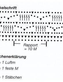 753b457b8253 Tričko s háčkovaným výstrihom - schéma