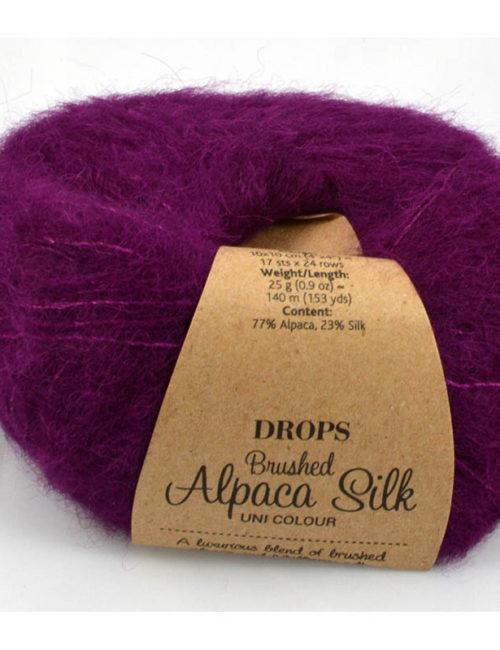 Brushed alpaca silk 9 purpurová