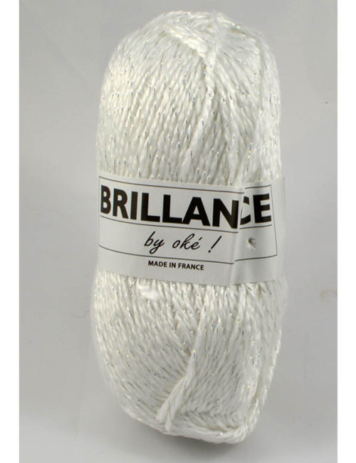 Brillance 402 biela+strieborný lurex