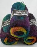 Delight 10 fialová/smaragd/okrová