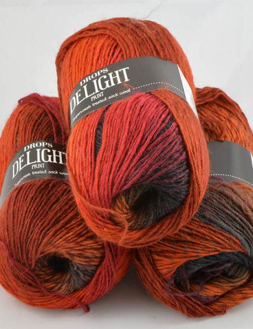 Delight 13 hrdzavá/vínová/antracit