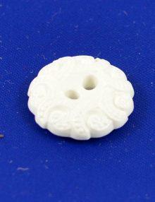 Gombík biely reliéfny
