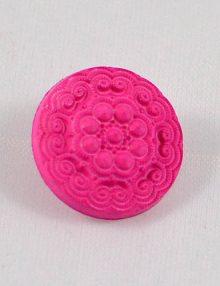 Gombík sýto ružový reliéfny