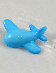 Gombík lietadlo modré