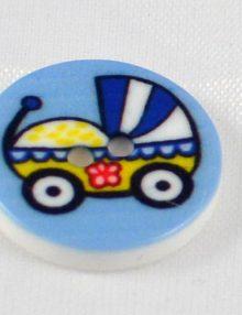 Gombík modrý kočík