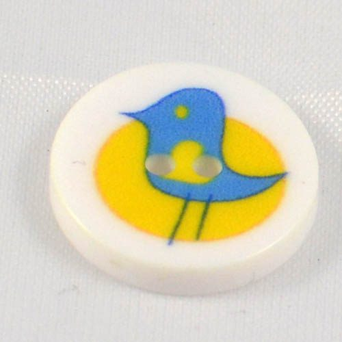 Gombík modrý vtáčik