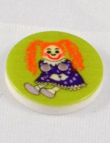 Gombík zelený bábika