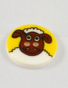 Gombík žltý ovečka