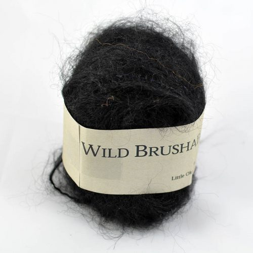 Wild Brushable mohair čierna